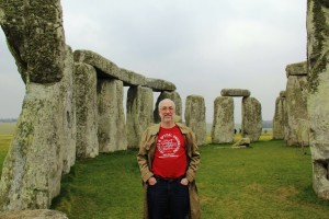 Chris Mack at Stonehenge